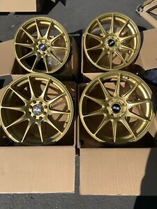 17x7 5 Xxr 527 4x100 4x114 3 40 Gold Wheels Rims Used Set