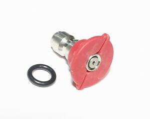 Pressure Washer Quick Connect Tip Nozzle Size 2 0 Gpm Red 0 Degree Spray Angle
