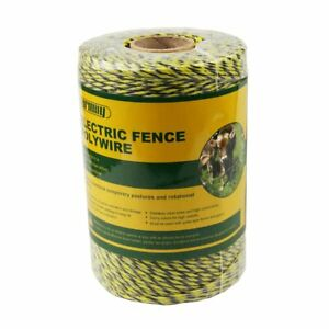 Farmily Portable Electric Fence Polywire 1312 Feet 400 Meter 6 Conductor Yell