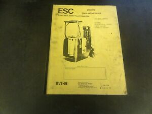 Yale Electric Stand up End Control 2000 2500 3000 Forklift Parts Manual Itd 1139