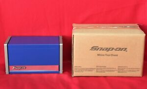 Snap On Royal Blue Mini Micro Top Chest Tool Box Brand New