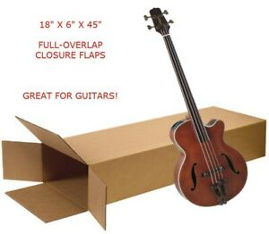 Large 18x6x45 Electric Guitar Shipping Packing Moving Box Keyboard Side Loading