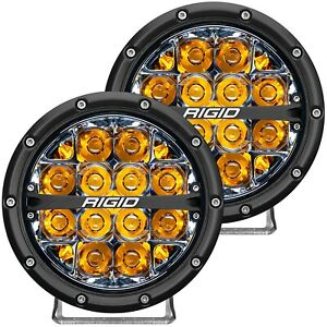 Rigid Industries 360 Series 6 Led Off Road Light Amber Backlight Pair 36201