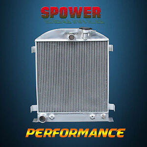 3 row core Aluminum Radiator For Ford Chopped Ford Engine At Mt 1932 62mm