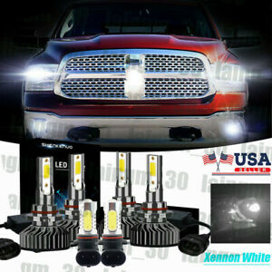 Xenon White Led Headlight fog Light Bulb For Ram 1500 2500 W projector 2016 2017