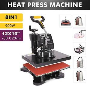 12 X 10 T Shirt Heat Press Machine For Mug Hat Plate Cap Mouse Pad 8 In 1
