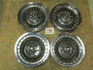 1963 67 Buick Lesabre Wildcat 15 Wire Spinner Wheel Covers Hubcaps Set Of 4