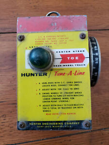 Hunter Vintage Wheel Alignment Tool Left Rear Wheel Track Toe Tune A Line 1100 A