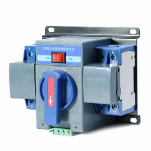 Dual Power Automatic Transfer Switches Switch For Generator 220v 63a 2p 50 60hz