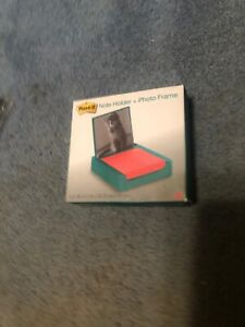 Post it 3 X 3 Inches Note Holder With Photo Frame Emerald Green