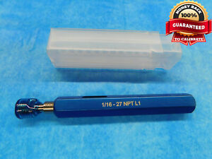1 16 27 Npt L 1 Pipe Thread Plug Gage 0625 N p t L 1 Quality Inspection Tool