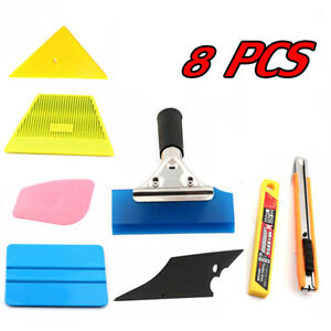 8 Pcs Pro Car Window Tint Kits Wrapping Vinyl Tools Squeegee Scraper Applicator