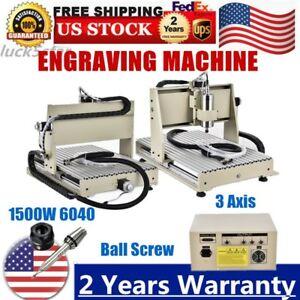 1 5kw Engraver Cnc 6040 Milling Cutter Drill Engraving 3d Woodworking Machine