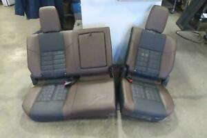 2016 Nissan Titan Xd Rear Seat Set Brown Black Leather Crew Cab Heated Oem