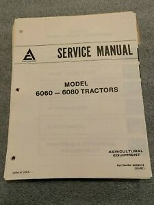 Original Oem Allis Chalmers 6060 6080 Tractor Factory Service Manual Technical