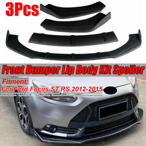 For Ford Focus Rs St 2012 2015 Front Bumper Lip Body Kit Spoiler Splitter Wing