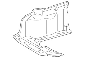 Genuine Toyota Under Cover 51441 02260 Fits 2010 Toyota Corolla