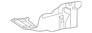 Genuine Toyota Under Cover 51442 02330 Fits 2010 Toyota Corolla