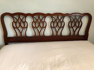 Thomasville Mahogany Collection Queen Headboard Bed Frame