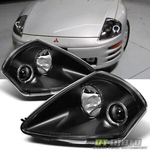 Fits Black 00 05 Mitsubishi Eclipse Halo Projector Headlights Lamps Left Right