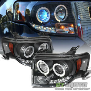 Black 2008 2012 Ford Escape Led Halo Projector Headlights Headlamps Left Right