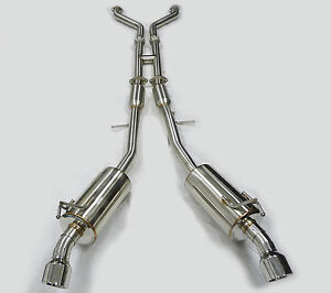 Obx Exhaust Catback True Dual Exit Fits 03 09 350z Fairlady Z Coupe Roadster