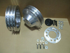 New Buick Nailhead Billet 2 3 Groove Pulleys 264 322 1953 1954 1955 Ac