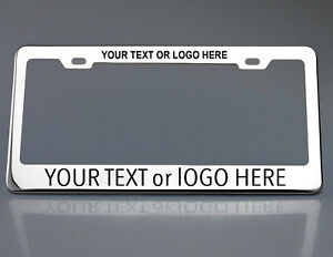 Laser Engraved Customize License Plate Frame Stainless Steel Fit Porsche