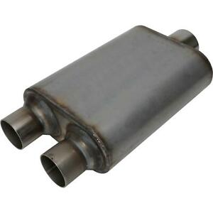 Stainless Steel Chamber Muffler 3 Inch Centered 2 5 Dual Outlet