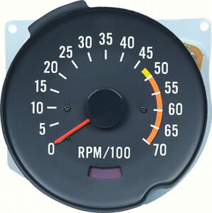 Oer Reproduction 5000 Red Line Tachometer 1970 1978 Chevrolet Camaro