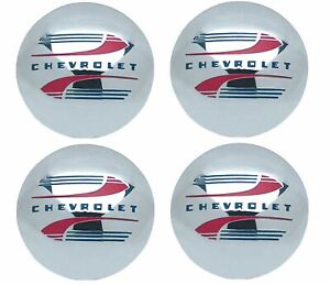 Oer Reproduction Stainless Steel Hub Cap Set 1941 1946 Chevy Pickup Truck 1 2ton
