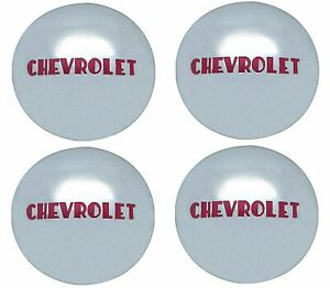 Oer Reproduction Stainless Steel Hub Cap Set 1947 1953 Chevy Pickup Truck 1 2ton