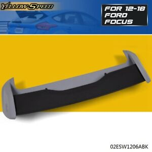 For 2012 2018 Ford Focus Hatchback Rs Style Black Rear Roof Wing Spoiler