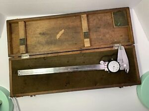 Vintage Mitutoyo No 505 645 Analog Dial Caliper Made In Japan With Case