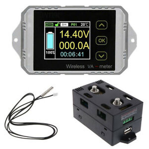 30a 50a 100a 200a 300a Wireless Voltmeter Ammeter Coulometer Power Battery Meter