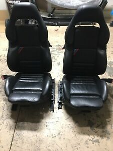 Bmw E36 M3 Oem Right Left Vader M Sports Seat Black Napa Leather Powered