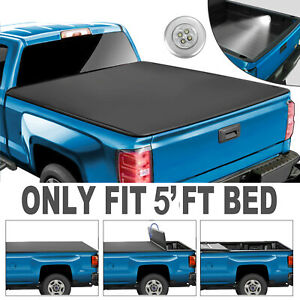 Tri Fold Tonneau Cover For 2016 2017 2018 2019 Toyota Tacoma 5ft Bed Truck