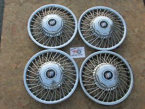 1985 89 Buick Electra Lesabre Park Avenue 14 Wire Wheel Cover Hubcaps Set 4