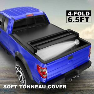4 fold 6 5ft Bed Truck Tonneau Cover For Chevy Silverado Gmc Sierra 1500 2500hd