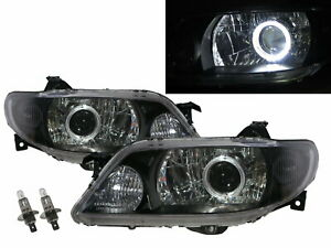 Protege Bj 2001 2003 Guide Led Angel Eye Headlight Bk For Mazda Lhd