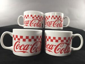 Vintage Coca-Cola Mugs Checkered by Gibson Designs - 1997