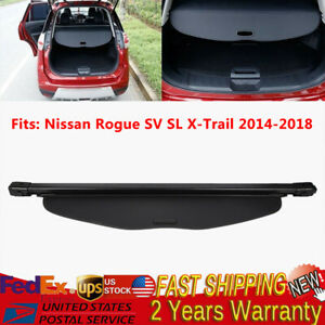 Updated Rear Trunk Privacy Cargo Black Shade Cover For 2014 2019 Nissan Rogue