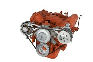 Chrysler Big Block Mopar Polished Power Steering Alternator System 426 440