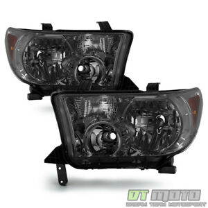 For Smoke 2007 2013 Toyota Tundra 2008 2017 Sequoia Headlights Lamps Left Right