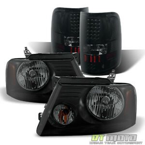 2004 2008 Ford F 150 Black Smoke Headlights Led Tail Lights Brake Lamps L R