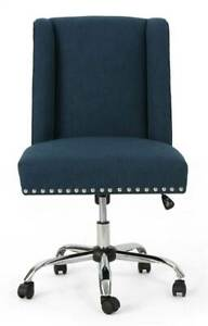 Home Office Fabric Desk Chair In Navy Blue id 3843344