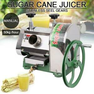 Samger 50kg h Manual Sugar Cane Press Juicer Machine Commercial Extractor Mill