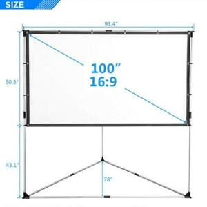 100 16 9 Triangle Stand Projector Screen 4k 3d Movie Theater With Carry Bag