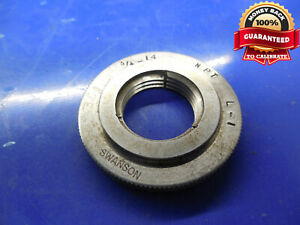3 4 14 Npt L1 Pipe Thread Ring Gage 75 750 14 N p t L 1 Taper Inspec