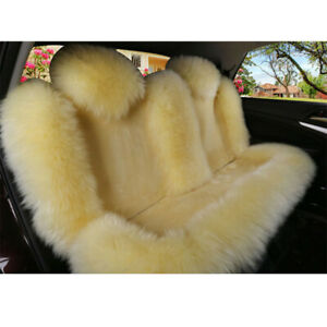 Multi color Australian Sheepskin Car Seat Cover Cushion Warm Long Wool Fur Mat